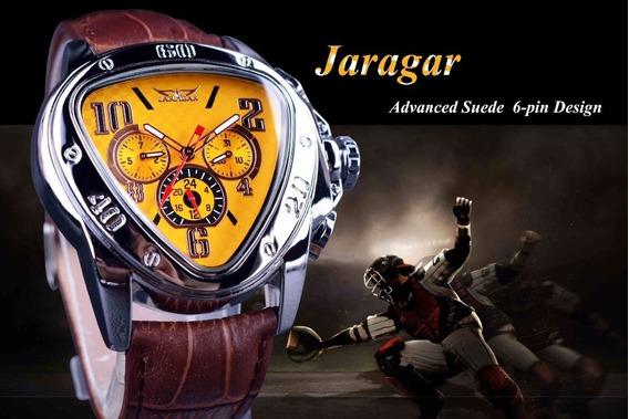 Jaragar Sport Racing Design Triângulo Geométrico Amarelo