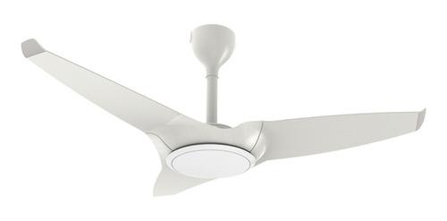 Ventilador de teto Ventisol Flow branco com 3 pás de plástico, 110cm de diâmetro 220V