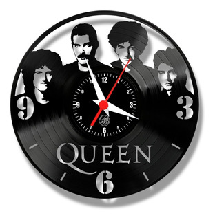 Queen Rock Freddie Mercury Relógio Vinil Disco Lp Musica