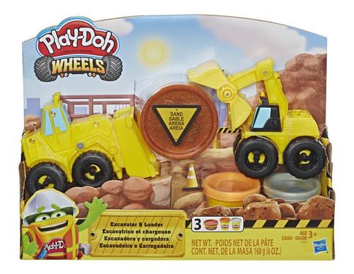 Plastilina Play Doh Wheels Vehículo Excavador