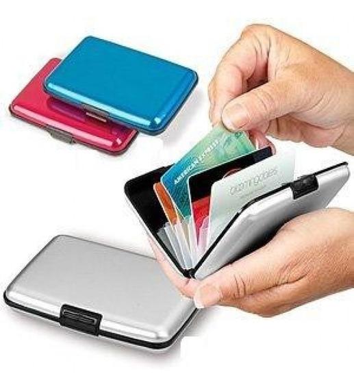 Tarjetero Aluminio Y Plastico Tipo Alluma Wallet