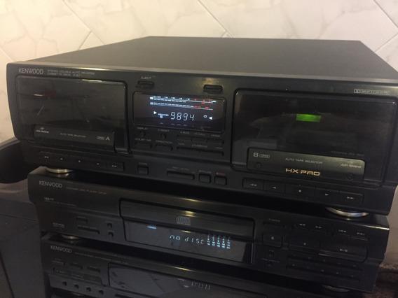 Tape Deck Kenwood Hx Pro Duplo Auto Reverse X 97 Perfeito