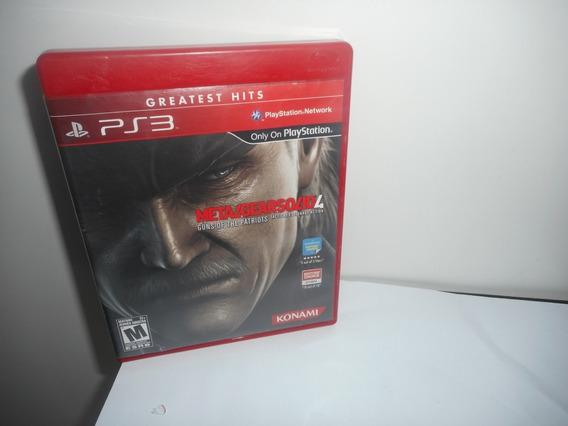 Metal Gear Solid 4 Guns Of The Patriots Ps3 Física Usado