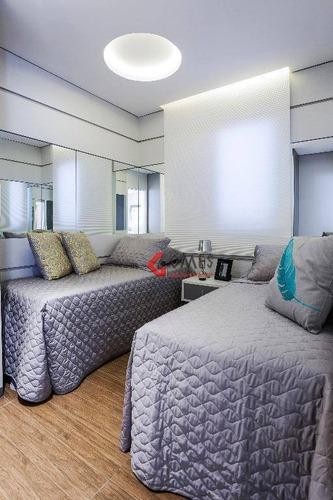 Apartamento Com 2 Dormitórios À Venda, 55 M² Por R$ 324.800,00 - Baeta Neves - São Bernardo Do Campo/sp - Ap0943