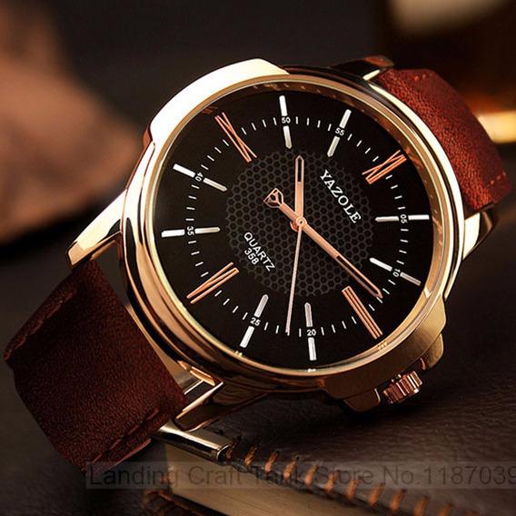 Relógios Femininos Masculinos N4 Romanos Preto Yazole