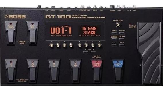 Pedaleira Boss Gt100 Guitarra Multiefeitos Com Fonte