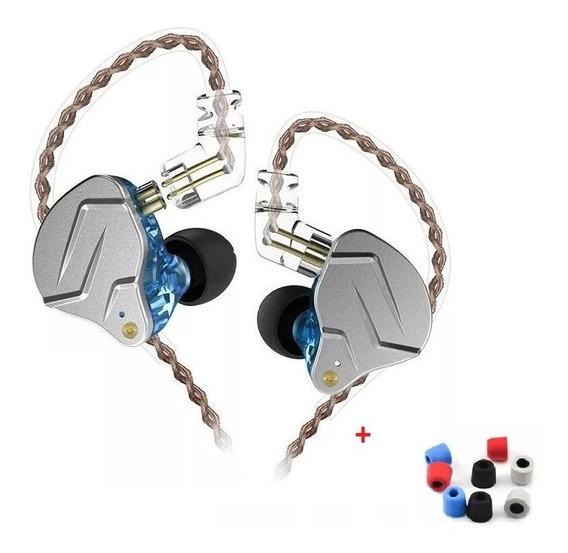 Fone In Ear Kz Zsn Pro Original Dual Drive + Brinde