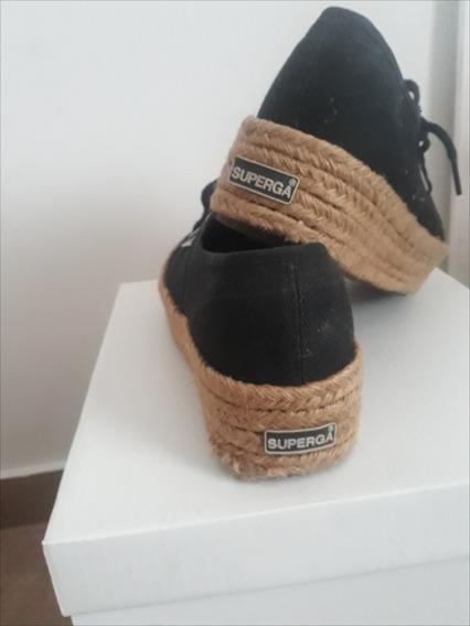 Zapatillas Plataforma Yute Superga