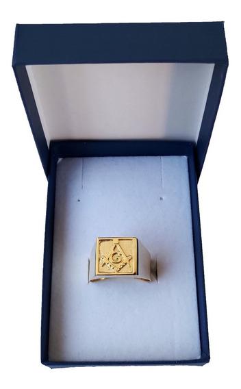 Anel Maçonaria 7 Gramas Em Ouro 18kl