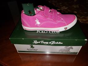 Tenis Polo Berkshire Color Rosa Niña #20 Mxn Textil