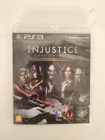 Injustice Ultimate Edition Midia Fisica Ps3 Seminovo Usado