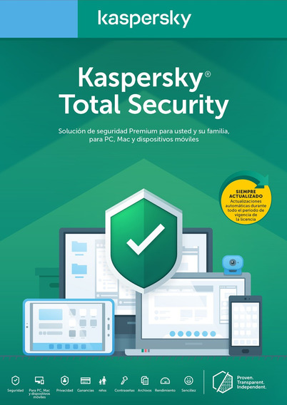 Licencia Kaspersky Total Security 1 Dispositivo 1 Año