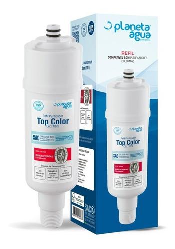 Refil Filtro Água Topcolor Para Purificador De Agua Colormaq Premium V2 Asteca Certificado Inmetro