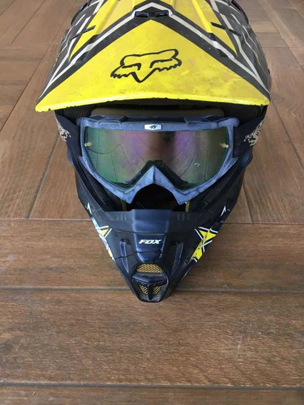 Capacete Fox Rockstar Motocross Trilha