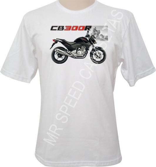 Camiseta Motocicleta Honda Cb 300r Preta