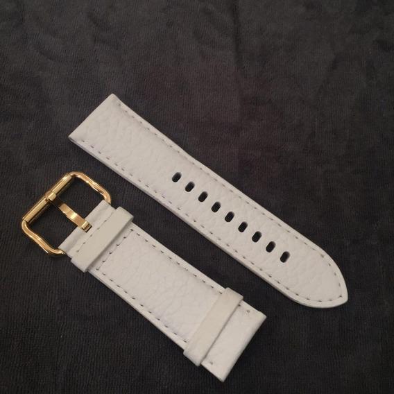Pulseira Branca Em Couro Para Relógio Original Michael Kors