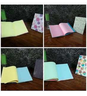Libretas Con Hojas De Colores