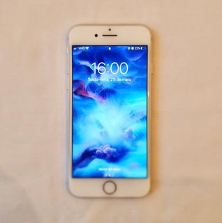 iPhone 7 Original 128 Gb Prata + Case Preta Desbloqueado