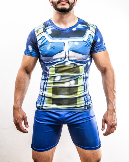 Playera Gym Dragon Ball Z Gokú Vegeta Lycra Entrenamiento