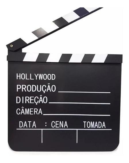 Claquete De Cinema Para Filmagens E Decorações 30 X 26,5 Cm