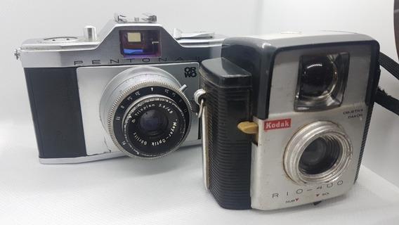 Cameras Antigas Pentona Ii Orwo E Kodak Rio 400