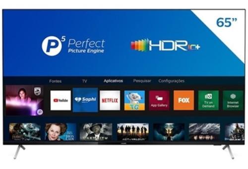 Imagem 1 de 4 de Smart Tv Philips 65 4k Uhd P5 Hdr10 Bluetooth Wifi 3 Hdmi 2