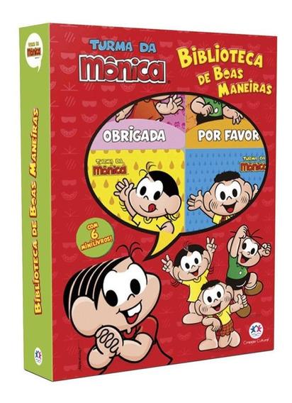 Kit 2 Livros Turma Da Monica:box Boas Maneira+501 Atividades