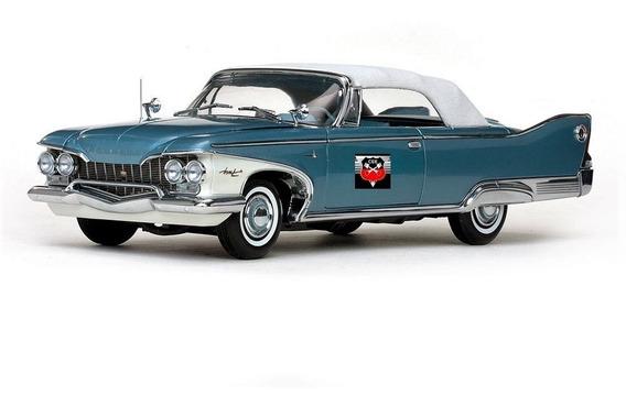 Plymouth Fury 1960 Closed Convert. - Sun Star Platinum 1/18