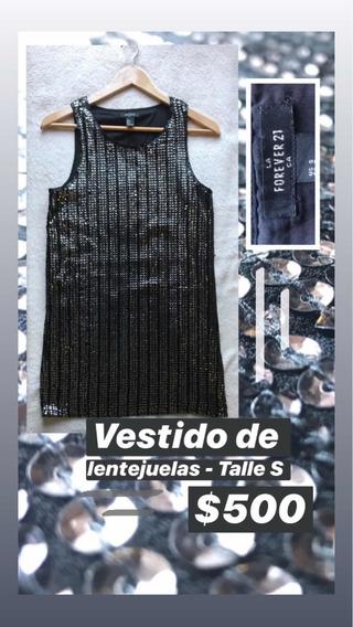 Vestido Forever 21 Lentejuelas Talle S