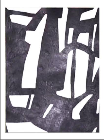Quadro Pintura Tela Abstrato 1,5 X 2 Metros Preto Branco