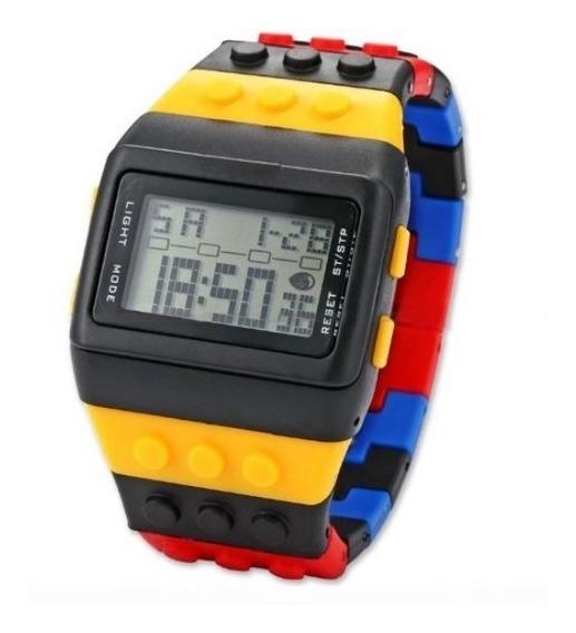 Relógio Lego Digital Geek Nerd Luz Noturna Pronta Entrega