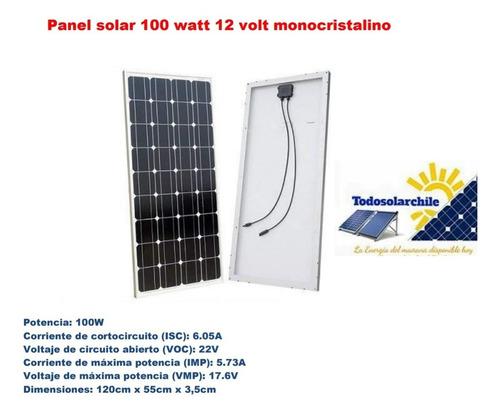 Panel Solar 100watt