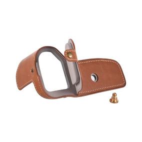 Meia Capa Half Case Pu Leather Marrom P/ Canon 6d Mark Ii