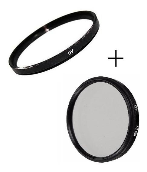 Kit Filtro Uv + Cpl + Case 40.5mm 43 46 49mm 52mm 55mm