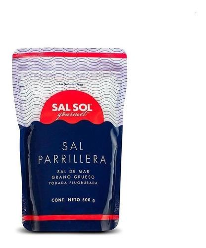 Imagen 1 de 1 de Sal Parrillera De Mar Caja Con 10 Bolsas De 500gr