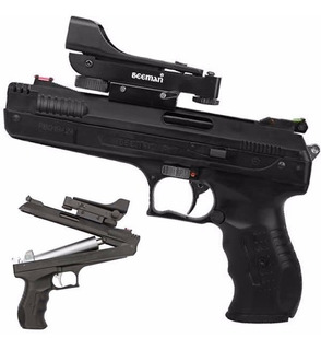Pistola Pressão Arma Chumbinho Beeman 5.5 New P17 + Red Dot
