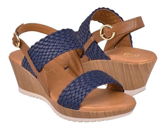 Sandalias Casuales Para Dama Flexi 34504 Azul