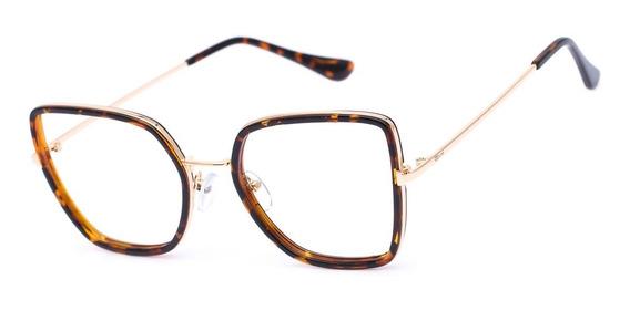 Armação Oculos Ogrife Og 1809-c Feminino Com Lente Sem Grau
