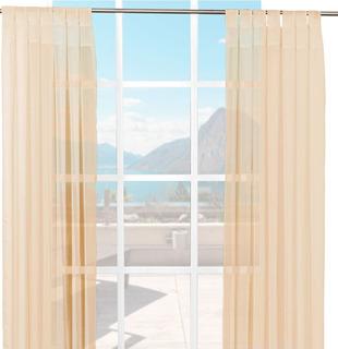 Cortinas De Tergal Traslúcidas (280x225cm) Marca Intima