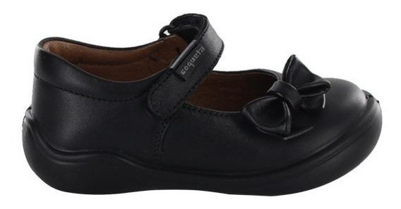 Zapato Escolar Para Niña Coqueta Mod Castor Negro T13-18