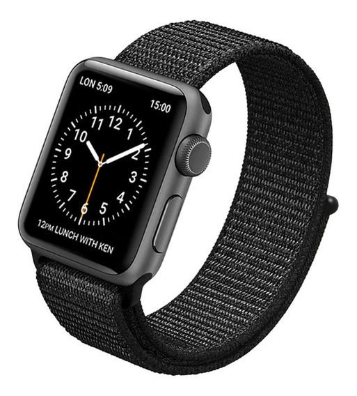 Pulseira Nova Nylon Loop Para Apple Watch, Iwo 8/9 Plus 42mm 38mm 44mm 40mm