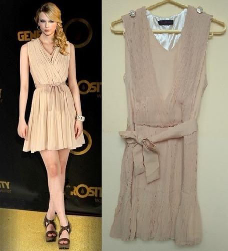 Vestido Taylor Swift Gasa Plisada Tallas Xs Y S Nuevo Stock