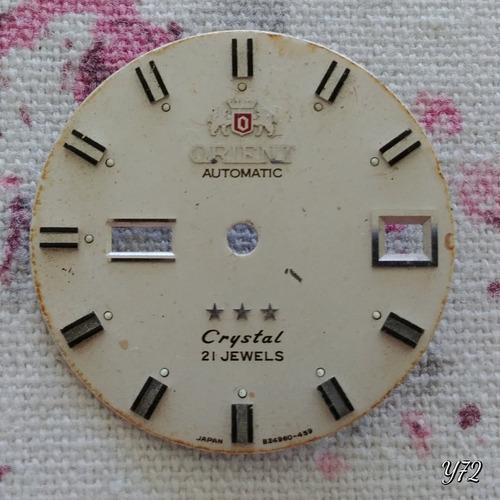 Mostrador Orient Automatic Cystal 21j 824960-459 28mm