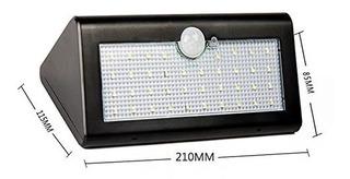Lampara Solar De 38 Led, Sensores De On/ Off 5 Modos