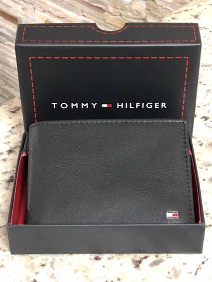 Carteira Masculina Couro Tommy Hilfiger Passcase Original