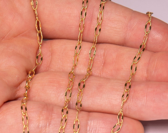 Cordão Ouro 18k Grumet Bordado - 4.0 Gramas