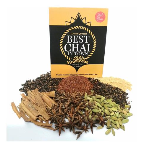 Té Rojo Yogui Tea Chai Rooibos 120g - Unidad a $7