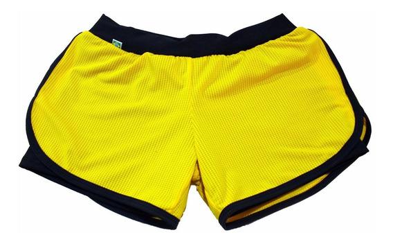 Short Duplo Fitness - Plus Size Roupa Para Academia - 56/58