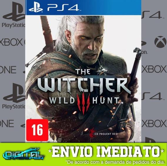 The Witcher 3 Wild Hunt Ps4 Jogo Digital Envio Em 10 Min!