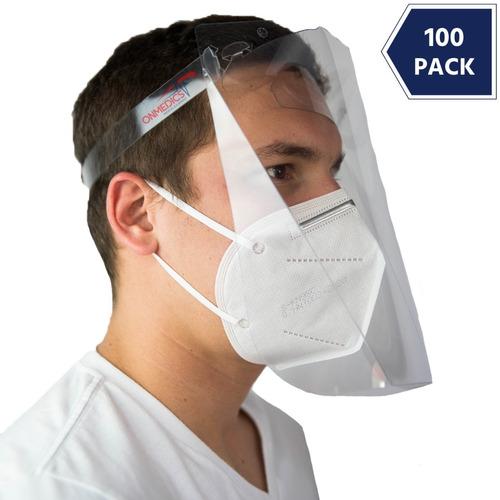 100 Careta Protector Facial Pet  Mascarilla Calibre.20